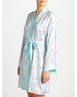 Satin Rosehip Print Dressing Gown