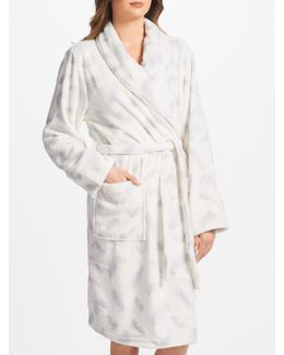 Amelia Feather Print Dressing Gown