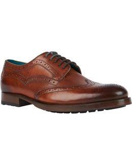 Senape Glossy Brogue Shoes