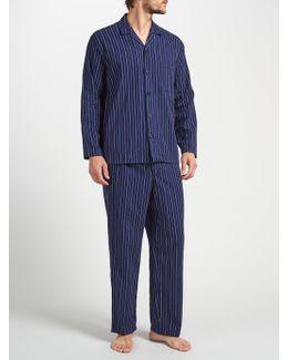 Herringbone Stripe Brushed Cotton Pyjamas