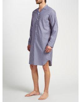 Cotton Stripe Nightshirt
