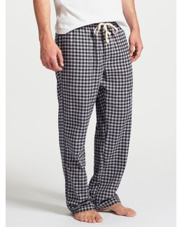 Boxwell Gingham Check Brushed Cotton Lounge Pants