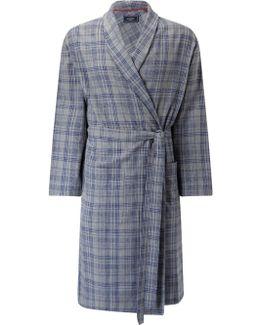 Delhi Brushed Cotton Check Robe