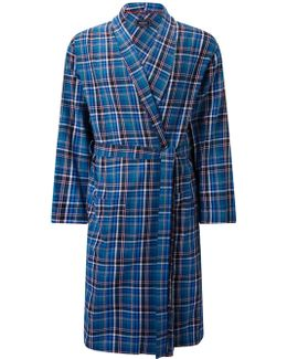 Tauru Brushed Cotton Check Robe