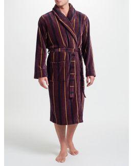 Stripe Velour Cotton Robe