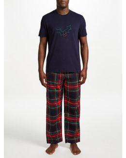Holly And Tartan Pyjama Gift Set