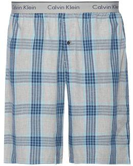 Laudette Plaid Lounge Shorts