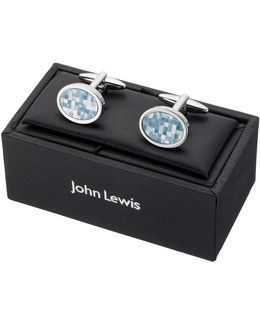 Mother Of Pearl Mosaic Cufflinks