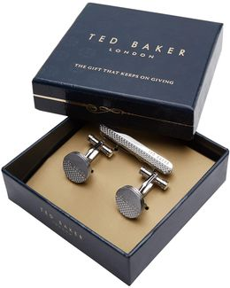 Fizset Cufflink And Tie Bar Gift Set