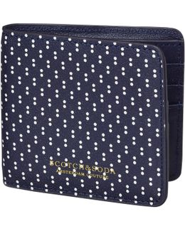 Polka Dot Leather Wallet