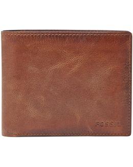 Derrick Large Coin Pocket Bifold Wallet