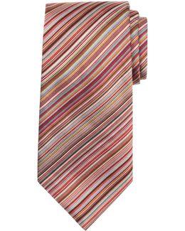 Signature Stripe Silk Tie
