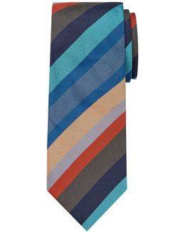 Made In Italy Silk Stripe Tie