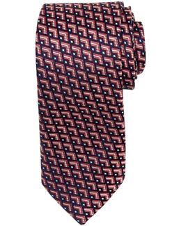 Palau Geo Pattern Silk Tie