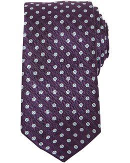 Injune Tile Print Silk Tie