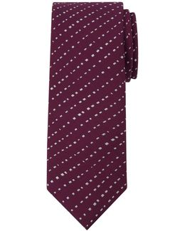 Broken Stripe Silk Tie