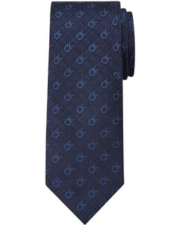 Ck Logo Silk Tie
