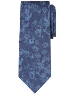 Faded Floral Silk Tie