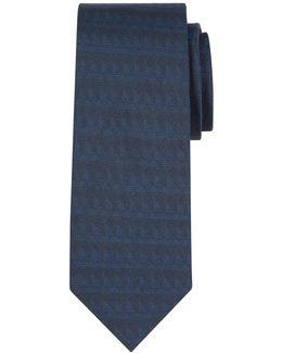 Tonal Triangle Silk Tie