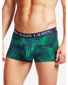 Polo Palm Print Cotton Trunks