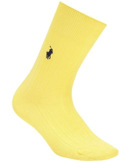 Polo Egyptian Cotton Blend Ribbed Socks