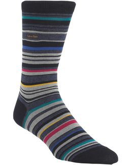 Barcode Stripe Socks