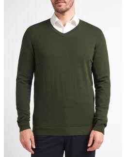 Cotton Rich V-neck Jumper