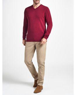 Italian Cashmere V-neck Jumper