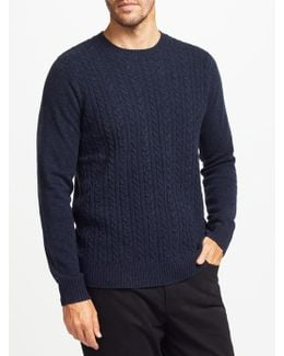 Cable Knit Crew Jumper