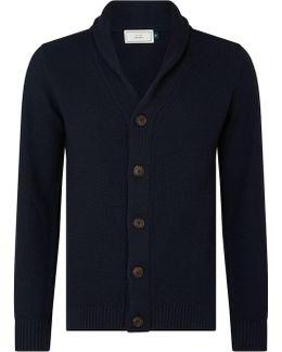 Moss Stitch Cotton Cardigan