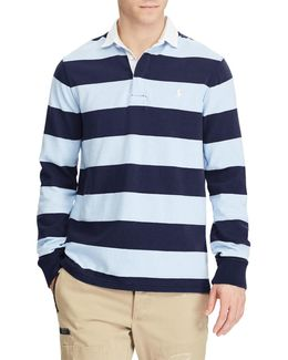 Polo Long Sleeve Knit Rugby Top