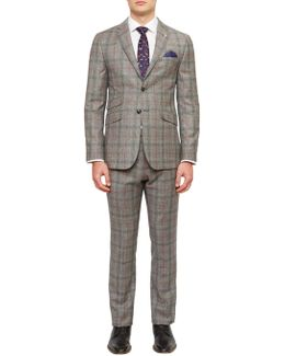 Hemplej Tailored Fit Check Suit Jacket
