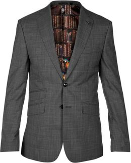 Casej Wool Check Tailored Suit Jacket