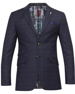 Dahlj Wool Check Tailored Suit Jacket