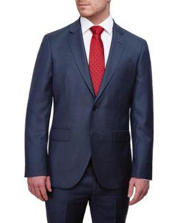 Italian Birdseye Super 120s Wool Suit Jacket