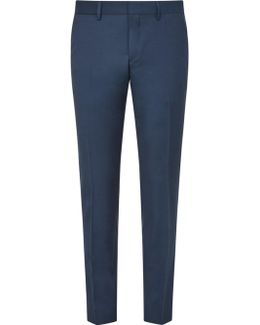 Comfort Stretch Wool Slim Suit Trousers