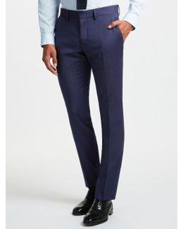 Fancy Wool Semi Plain Slim Fit Suit Trousers