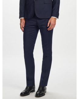 Soft Comfort Wool Slim Fit Suit Trousers