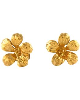 Single Flower Stud Earrings