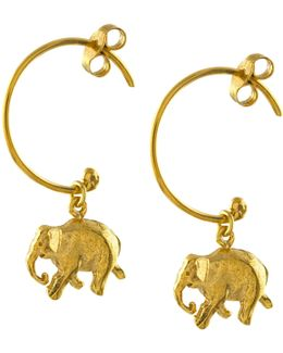 Indian Elephant Hoop Earrings