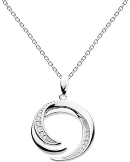 Sterling Silver Twine Helix Twist Pendant Necklace