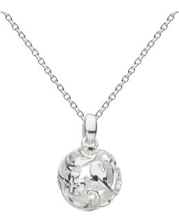 Sterling Silver Carved Ball Pendant