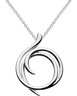 Sterling Silver Cubic Zirconia Helix Wrap Necklace