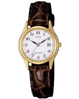 Rxt94ax9 Women's Date Leather Strap Watch