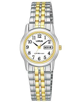 Rxu11ax9 Women's Day Date Two Tone Bracelet Strap Watch