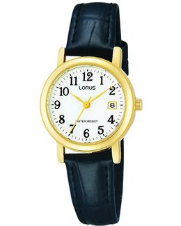 Rh764ax9 Women's Leather Strap Watch
