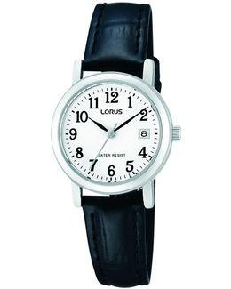 Rh765ax9 Women's Date Leather Strap Watch
