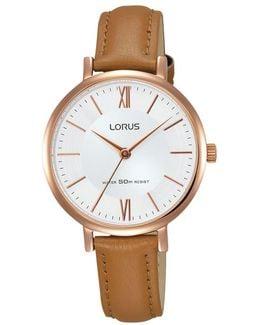 Women's Leather Strap Watch