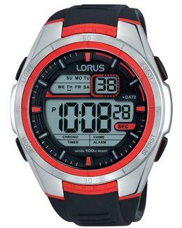 R2313lx9 Men's Digital Chronograph Silicone Strap Watch