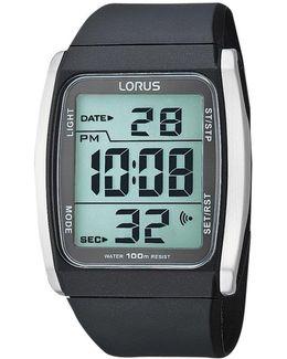 R2303hx9 Men's Stainless Steel Digital Resin Strap Watch